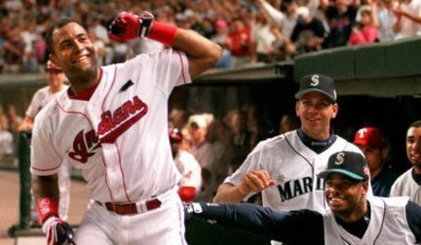 Cleveland's Sandy Alomar Jr. was MVP of the 1997 All-Star Game hosted by the Indians, becoming the first player to win the award when the game was hosted by his team.