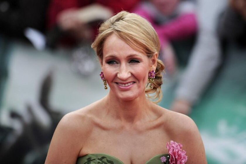"J.K. Rowling at the world premiere of the film ""Harry Potter and the Deathly Hallows — Part 2"" in 2011."