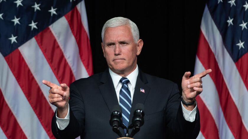 TOPSHOT-US-MILITARY-SPACE-POLITICS-PENCE