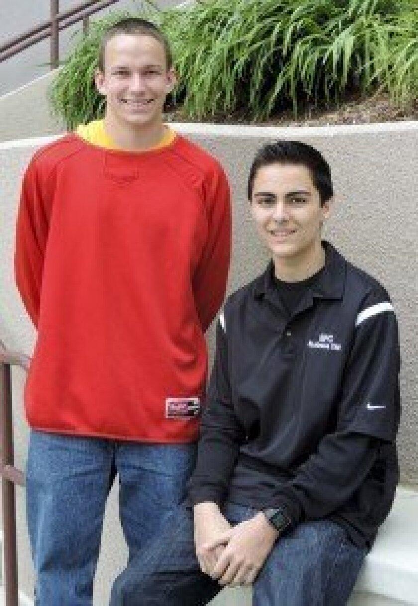 Bryce Aggasid and Luke Vandertie