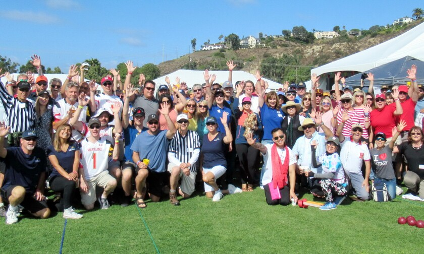 Participants at the Del Mar-Solana Beach Rotary BocceFest 2019. The popular annual event raises funds to benefit the community in a variety of ways, including when unexpected emergencies arise.