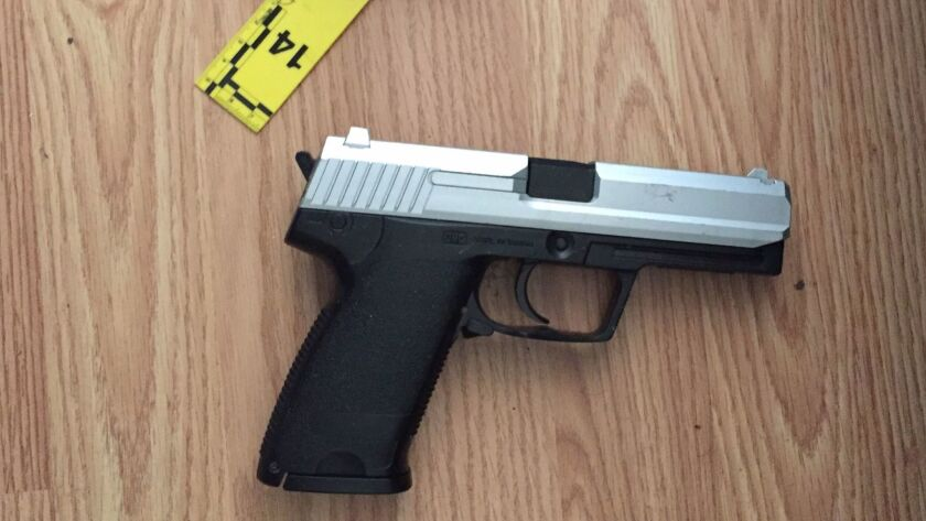 The replica firearm recovered by police during an officer involved shooting on June 29.