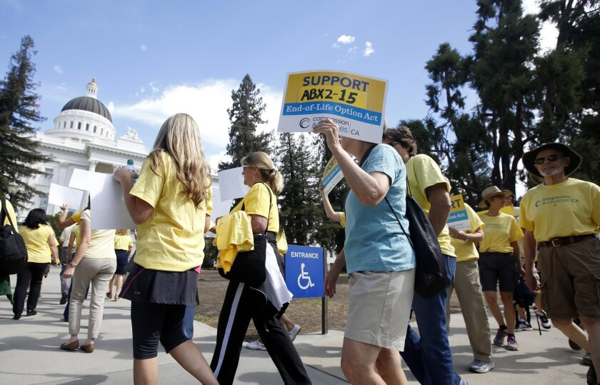 Right-to-die law supporters