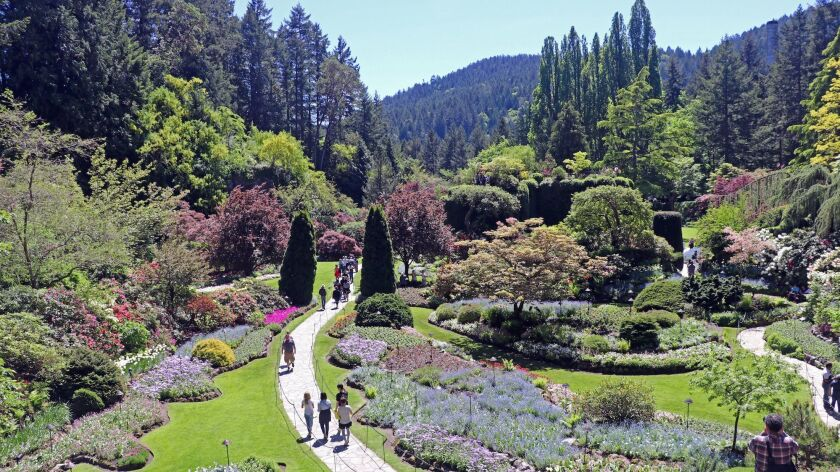 The Butchart Gardens, a short drive from Victoria, Canada, is one of the sites to see when taking a Princess Cruises sailing between Los Angeles and Vancouver, Canada.