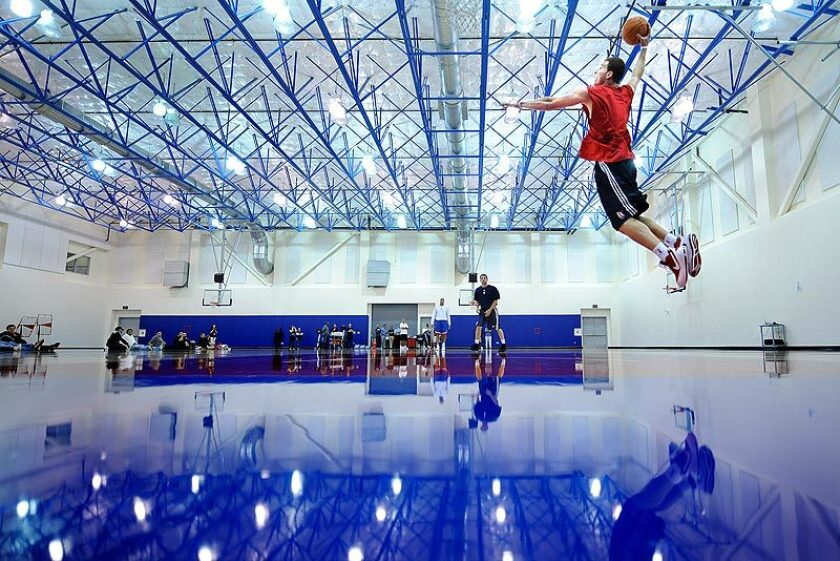 Players work out at the Clippers' training facility in Playa Vista.