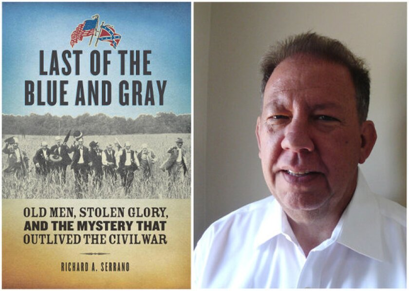 "The cover of ""Last of the Blue and Gray"" and author Richard A. Serrano."