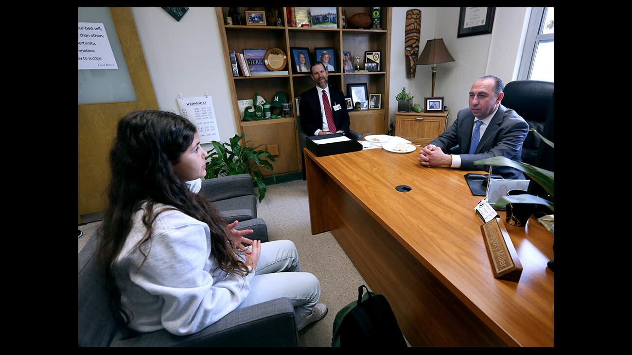 Photo Gallery: Principal for a Day at Muir Middle School
