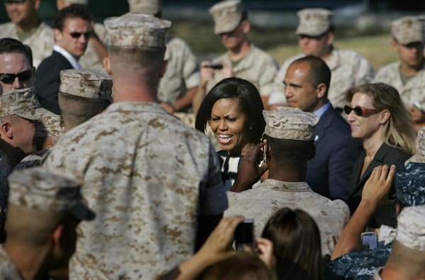 First Lady visits Camp Pendleton