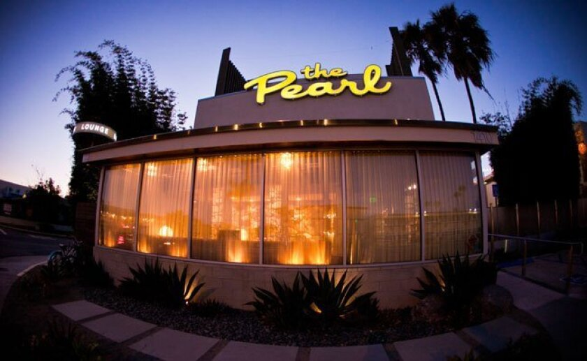Point Loma's boutique Pearl Hotel, designed by Michael Soriano from Onairos Design, has awesome bathrooms in its dining area.