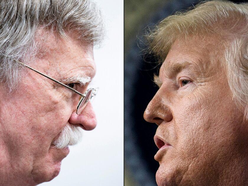 John Bolton and President Trump