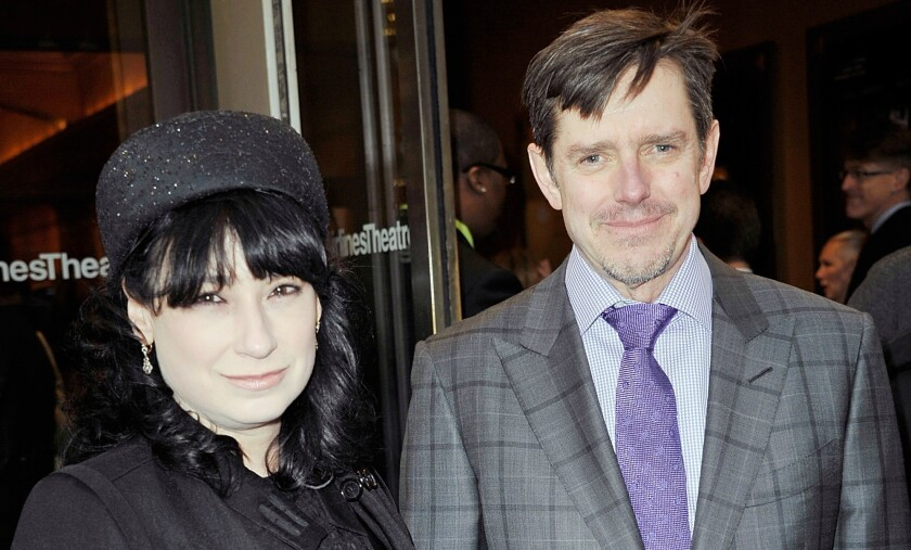"""Amy Sherman-Palladino and Dan Sherman Palladino attends the """"Violet"""" Opening Night at American Airlines Theatre in 2014."""