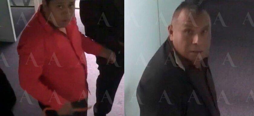 Fotos de las redes sociales de Aristegui Noticias muestran a los dos sujetos que allanaron la oficina de la periodista Carmen Aristegui.