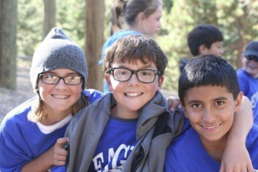 R. Roger Rowe students (above and below) enjoying the camp at the Pali Institute. Courtesy photos