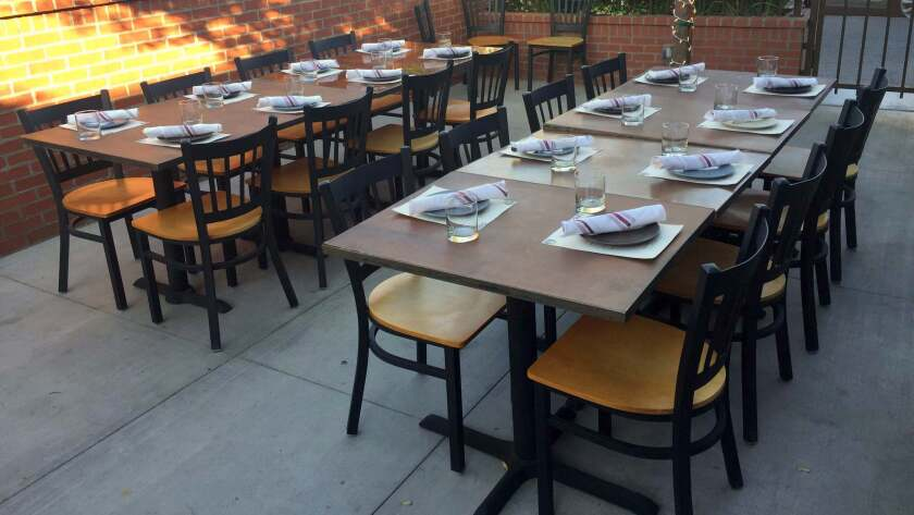 Pet-friendly brunches are offered Saturdays and Sundays on the shaded patio behind Gutton in downtown Las Vegas.