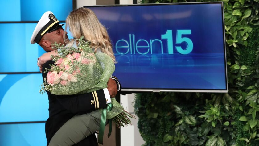 "In this photo released by Warner Bros., a taping of ""The Ellen DeGeneres Show"" is seen at the Warner"