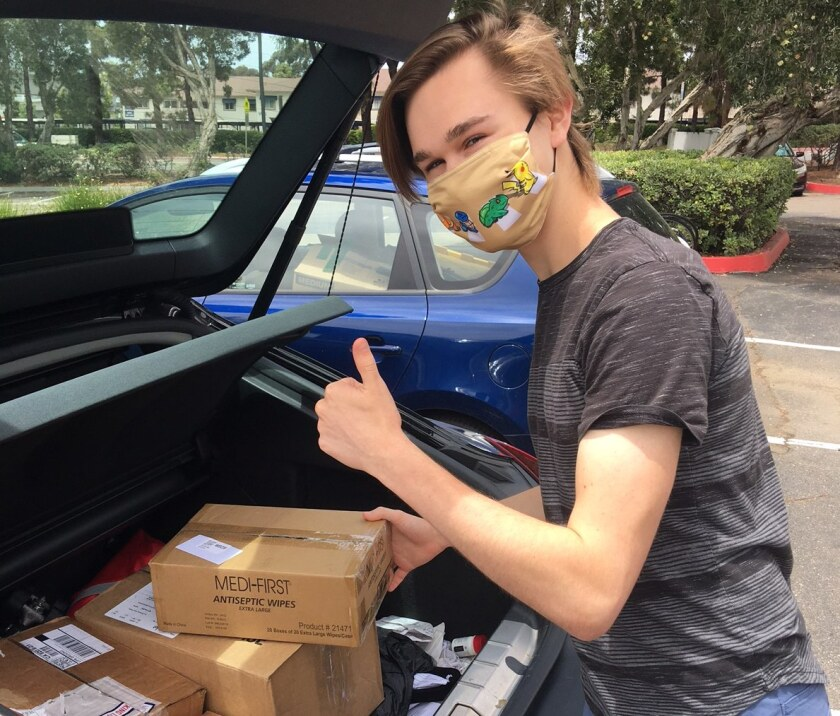 La Jolla Country Day School senior Boston Moreland founded Street Need, which aims to give first-aid kits to the homeless.