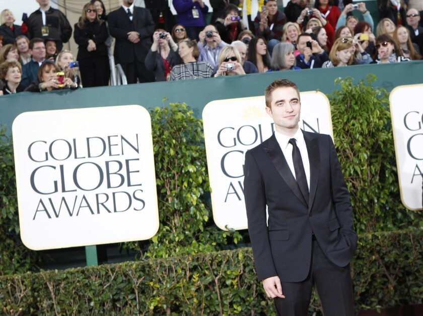 Robert Pattinson arrives at the Golden Globe Awards at the Beverly Hilton in January.