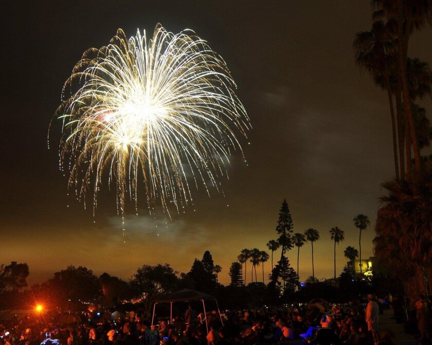 The sky over La Jolla lights up during the annual celebration of freedom.