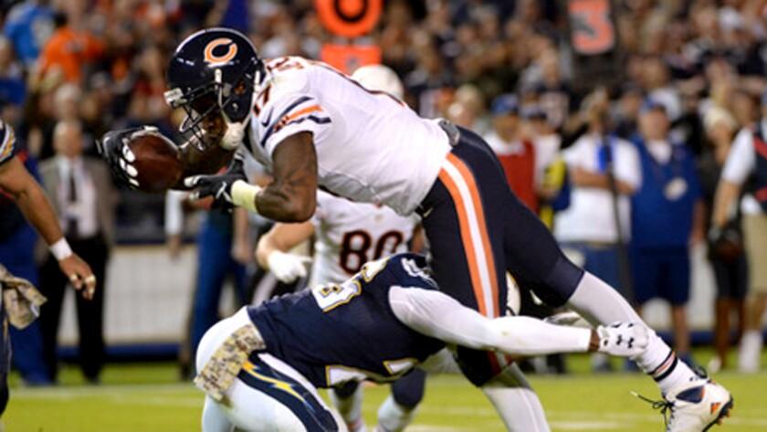 Bears receiver Alshon Jeffrey is doubtful to play Sunday