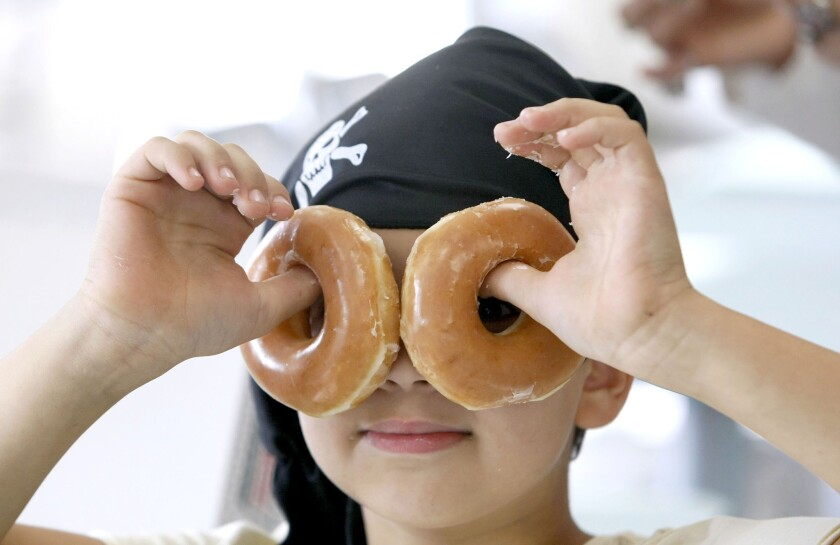 Arr, matey, doughnuts be treasure: International Talk Like a Pirate Day at Krispy Kreme Burbank