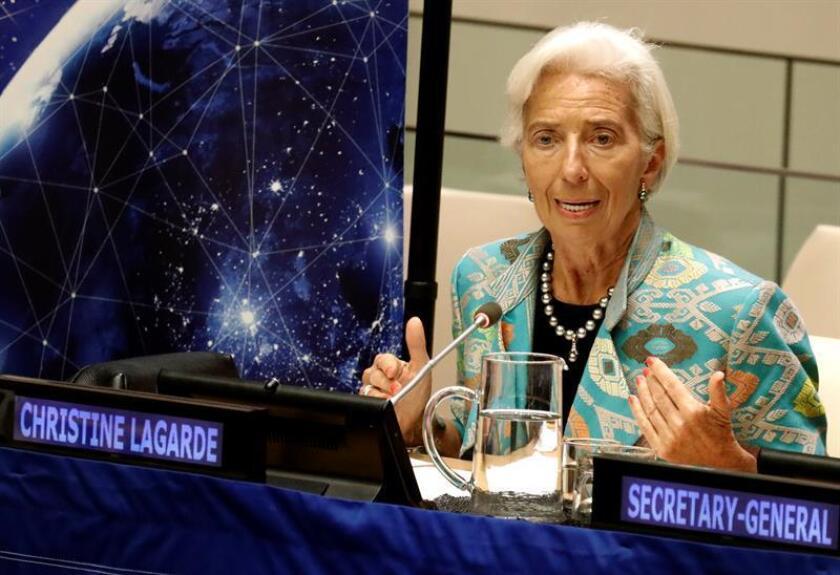 La presidenta del Fondo Monetario Internacional (FMI), Christine Lagarde. EFE/Archivo