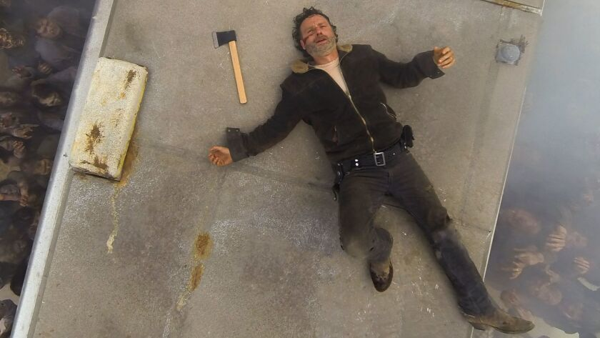 """Andrew Lincoln as Rick Grimes, in the season 7 opener of """"The Walking Dead."""""""