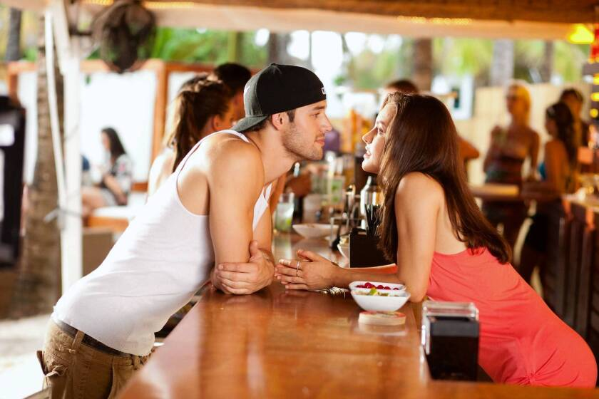 """In """"Step Up Revolution,"""" Ryan Guzman and Kathryn McCormick's characters are from different sides of the dance floor."""