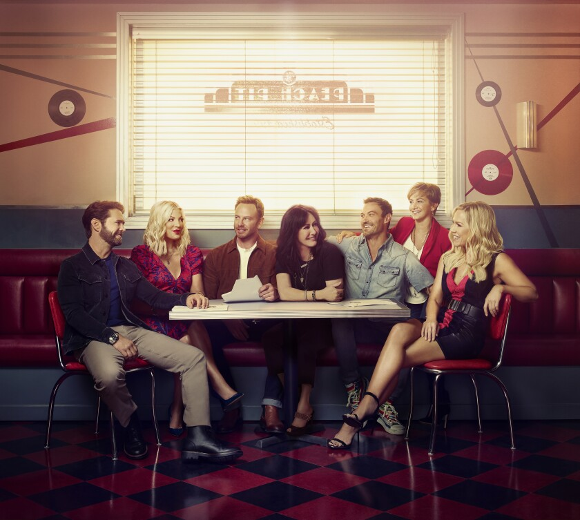"The cast of ""BH90210"""