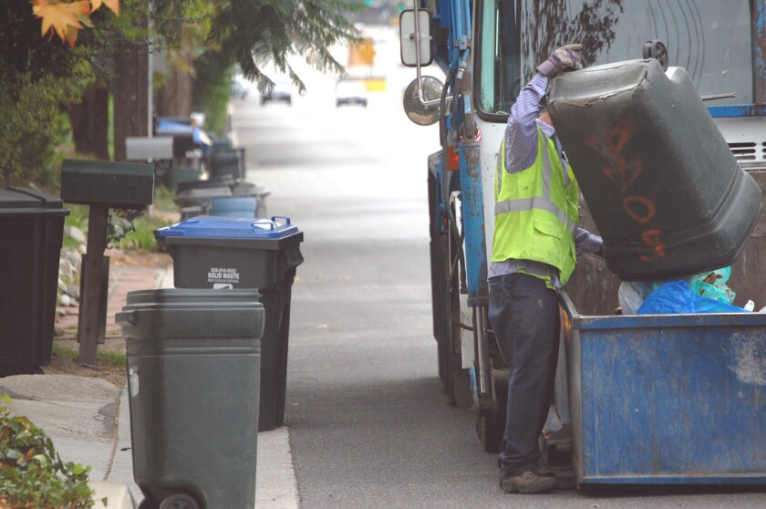 Curbside bulk trash pickups free next week
