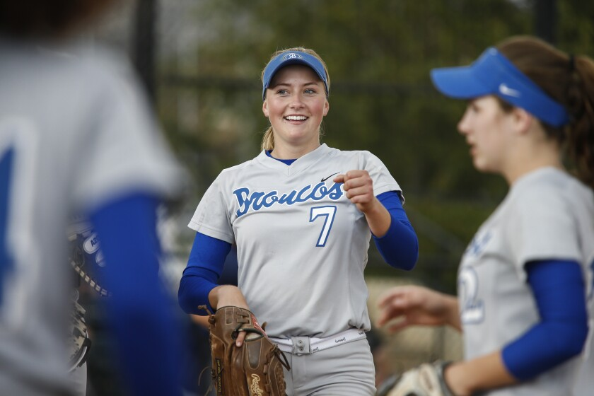 Senior standout Allie Boaz earned eight varsity letters in four years at Rancho Bernardo — four in softball and four in cross country.