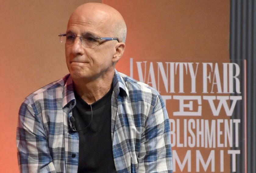 Apple Music's Jimmy Iovine speaks at Vanity Fair's New Establishment Summit in San Francisco on Wednesday.