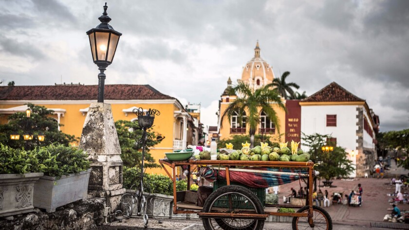 Cartagena, Colombia, has a colonial city center with boutique hotels and restaurants in renovated old homes.