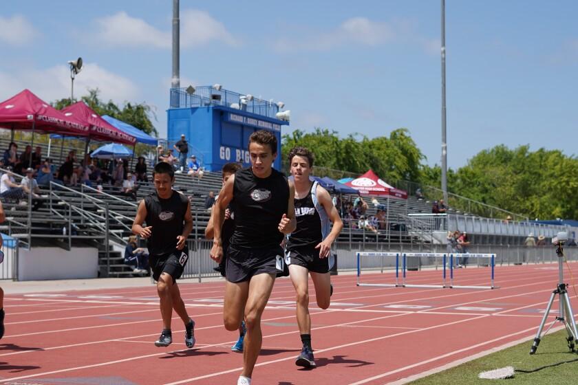 Classical Academy runner Joel Gomez leads the field in recent meet.