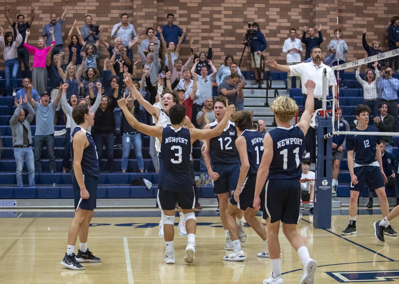 Photo Gallery: Newport Harbor vs. Los Angeles Loyola in boys' volleyball