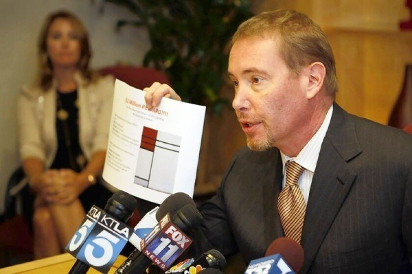 Reward offered by L.A. bond guru adds to intrigue over art theft