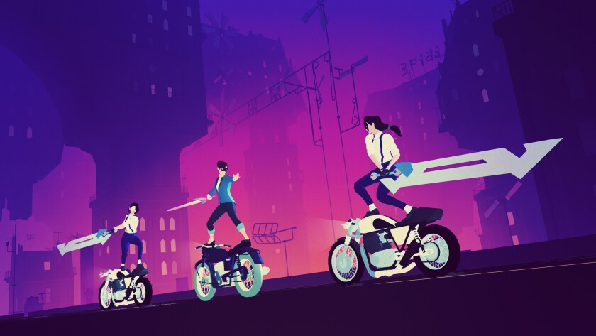 """Sayonara Wild Hearts"" is a showcase title of Apple Arcade."