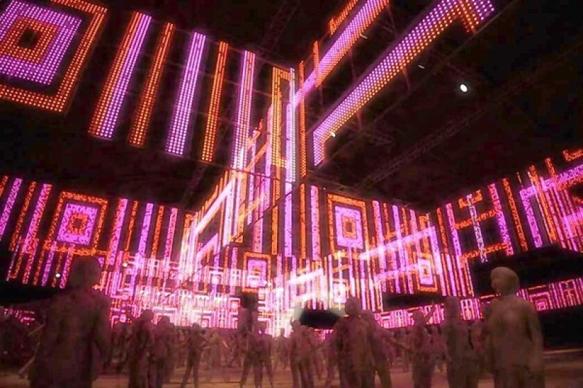 DANCE: The Sahara tent's hanging lights will sync up to the music.