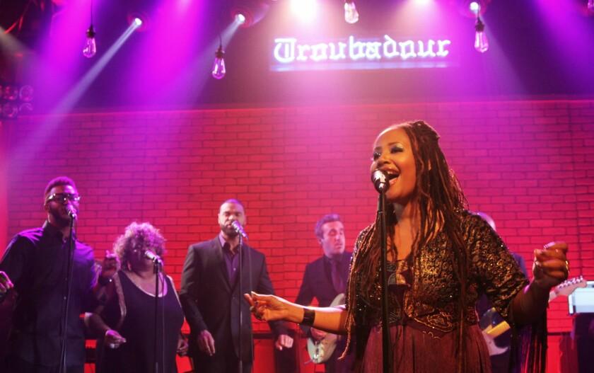Lalah Hathaway performing at West Hollywood's Troubadour.
