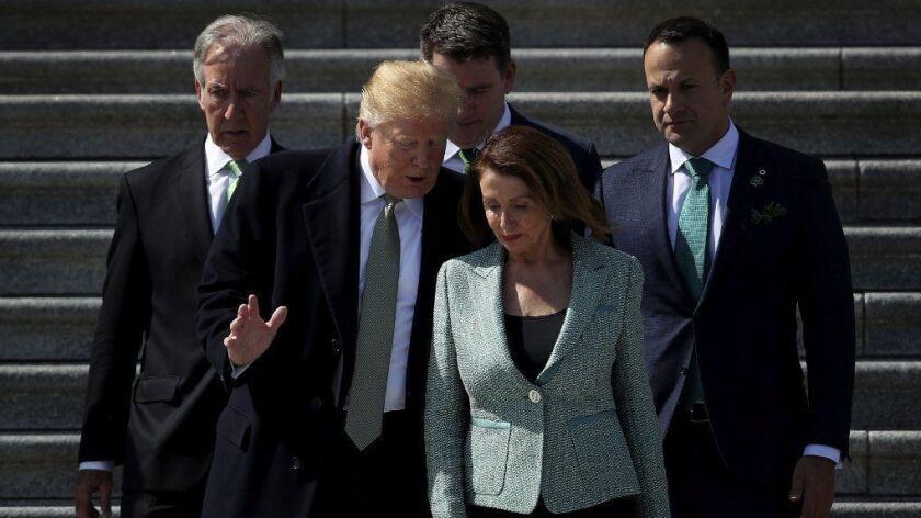 Speaker Nancy Pelosi Holds A Departure Ceremony For Irish Taoiseach Leo Varadkar Following The Friends Of Ireland Luncheon
