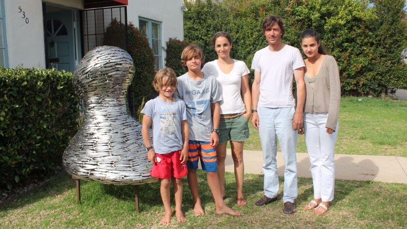 The Camino family — Nicolás, Salvador, Gadea March, Nicolás and Juana.