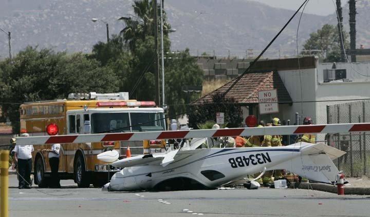 Light Sport Plane Crash at Gillespie Field