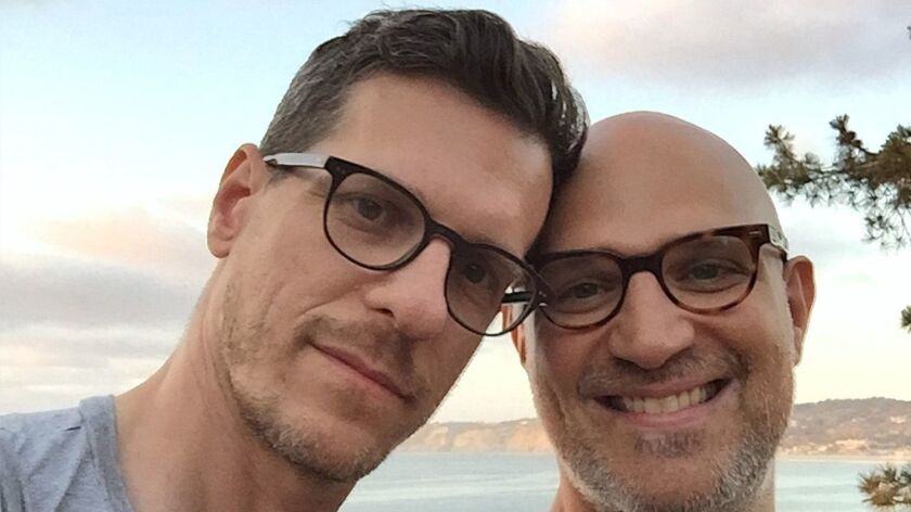 Brian Selznick, left, and David Serlin