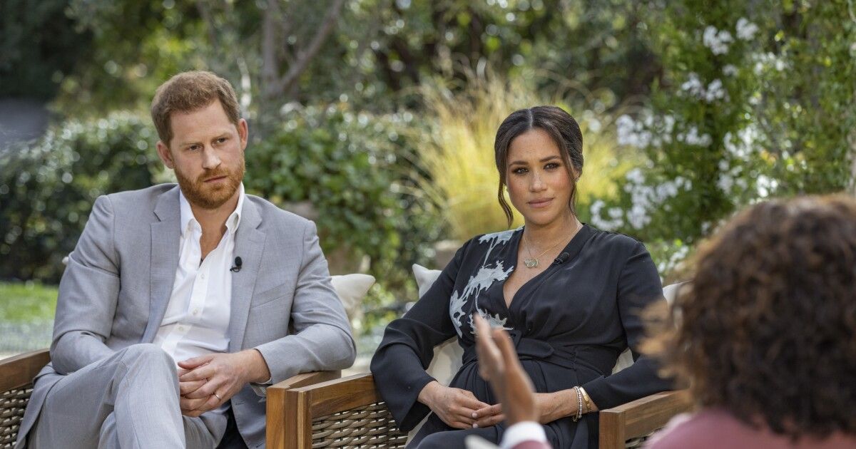 Oprah Winfrey's interview with Meghan and Harry pulls in 17.1 million viewers on CBS