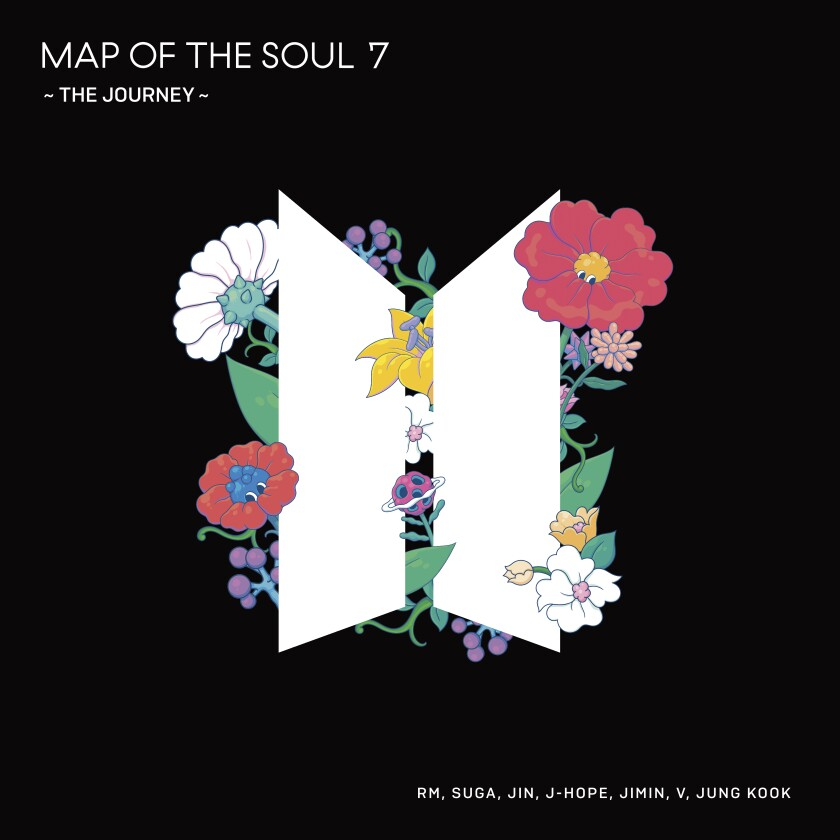"""This cover image released by UMe shows """"Map of the Soul 7 - The Journey"""" by BTS. (UMe via AP)"""