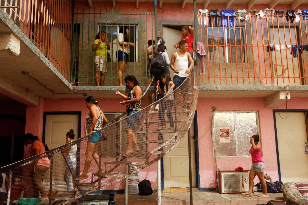 Migrant shelter in Mexicali, Mexico