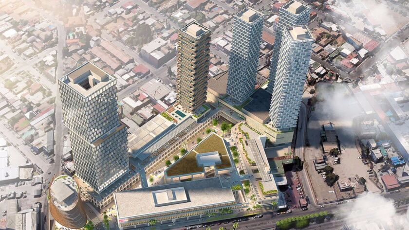 The Bajalta development in Tijuana will include 400 condos, a hotel and office building and mall.