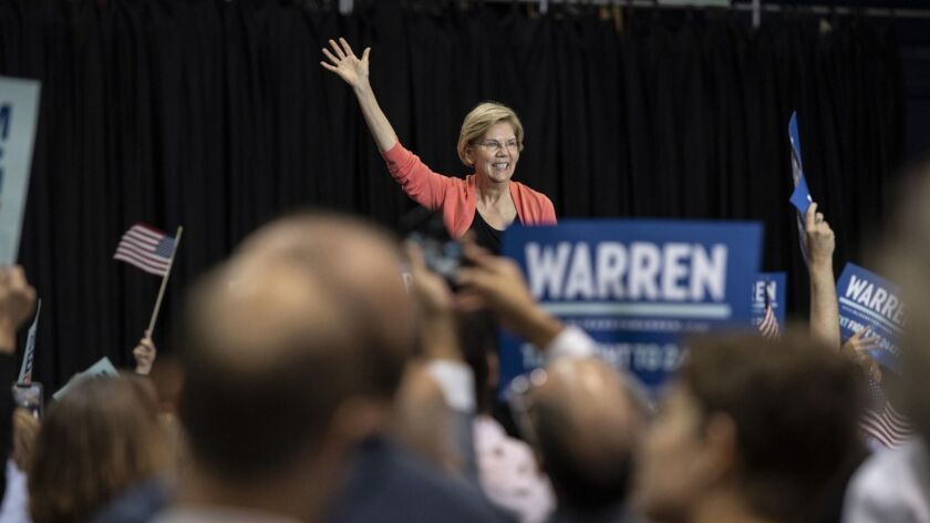 Warren announces plan to 'step up our game on protecting our vote' in FIU speech