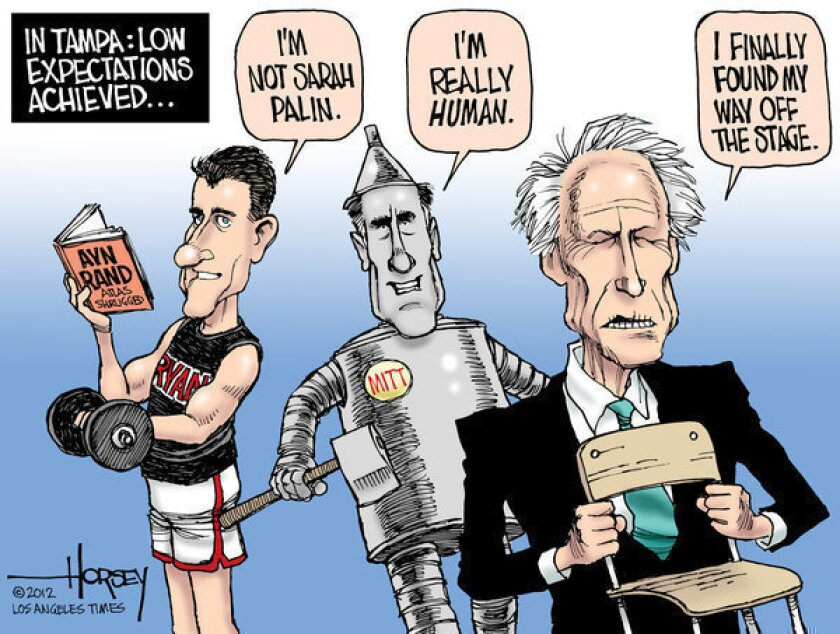 Clint Eastwood, Mitt Romney and Paul Ryan meet low expectations