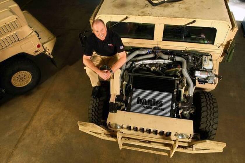 Automotive aftermarket legend Gale Banks revs up Army's Humvee