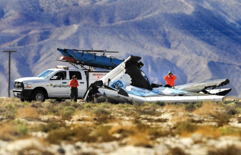 Virgin Galactic pilot talks to investigators
